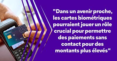 IDEMIA cartes biométriques paiement sans contact