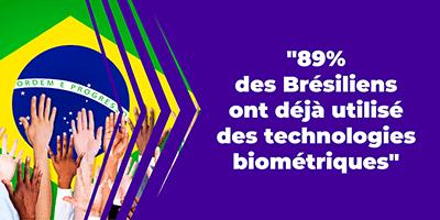 89% des Brésiliens ont déjà utilisé des technologies biométriques