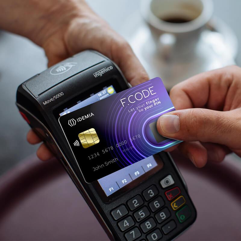 F.CODE biometric payment card IDEMIA