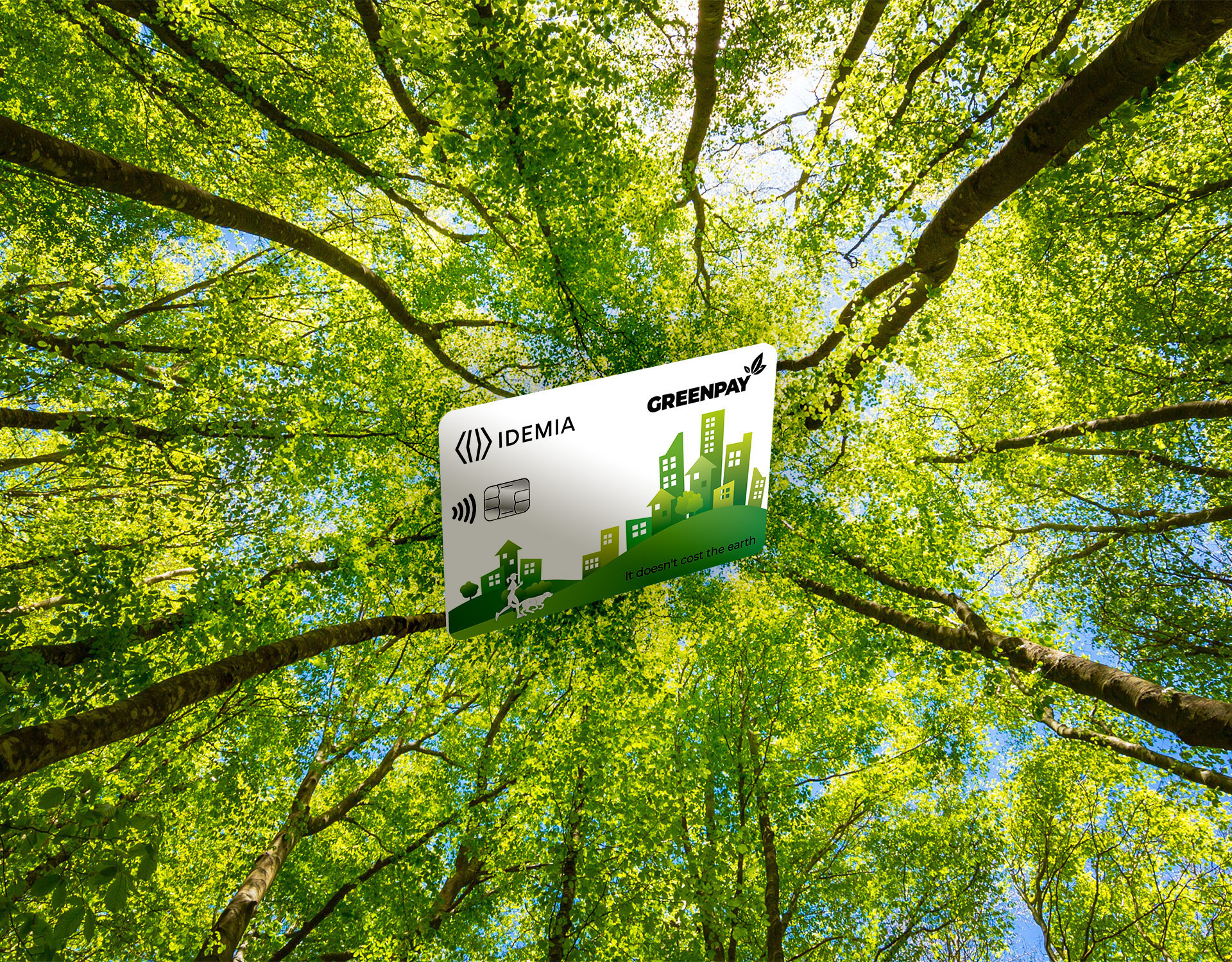 IDEMIA GREENPAY Recycled plastic cards