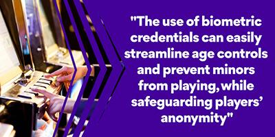 Biometrics credentials gamers