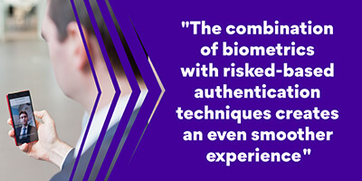 Biometrics and risked-based authentication