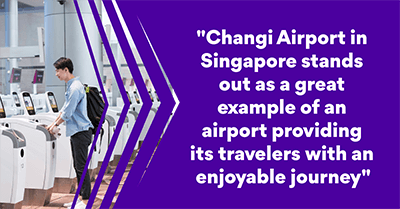 Changi Airport in Singapore provides its travelers with an enjoyable journey