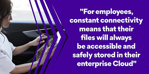 eSIM constant connectivity enterprise cloud