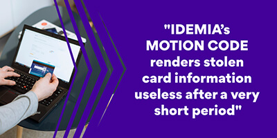 IDEMIA MOTION CODE secure online payment