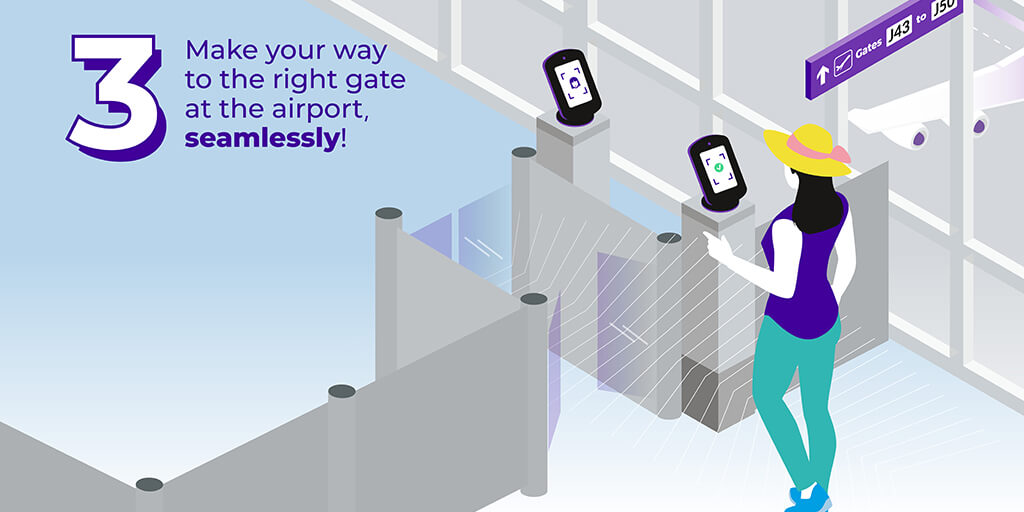 Make your way to the right gate at the airport, seamlessly!