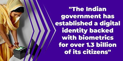 Indian digital identity biometrics IDEMIA