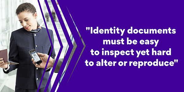 Secure identity document