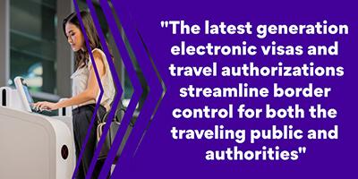 Border Control - Electronic visa IDEMIA