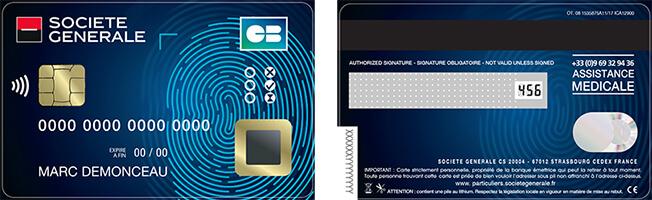 F.CODE carte bancaire biométrique avec capteur d'empreinte digitale
