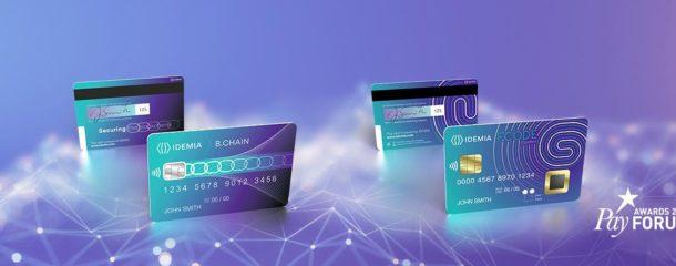IDEMIA, récompensé lors du PayFORUM 2018, révolutionne l'usage de la carte bancaire et du paiement avec F.CODE et B.CHAIN