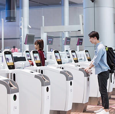 IDEMIA automated boarding solution Changi airport