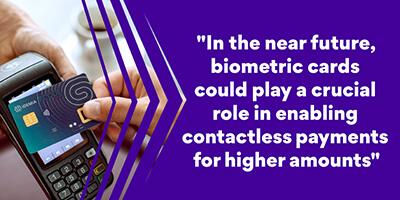 IDEMIA biometric card contactless payment