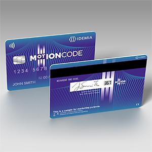 MOTION CODE: dynamic payment card