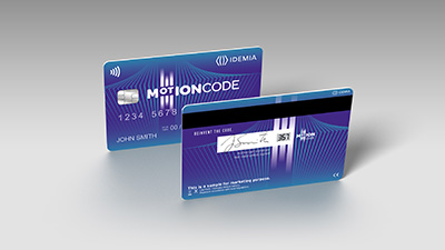 MOTION CODE™ credit card