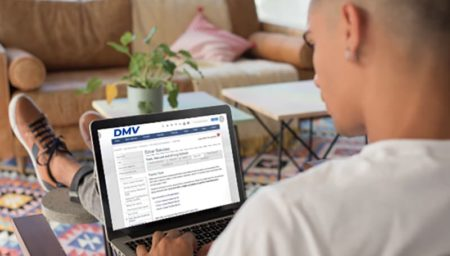 Secure DMV online driving test service