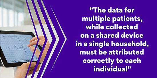 Secure management of data patient